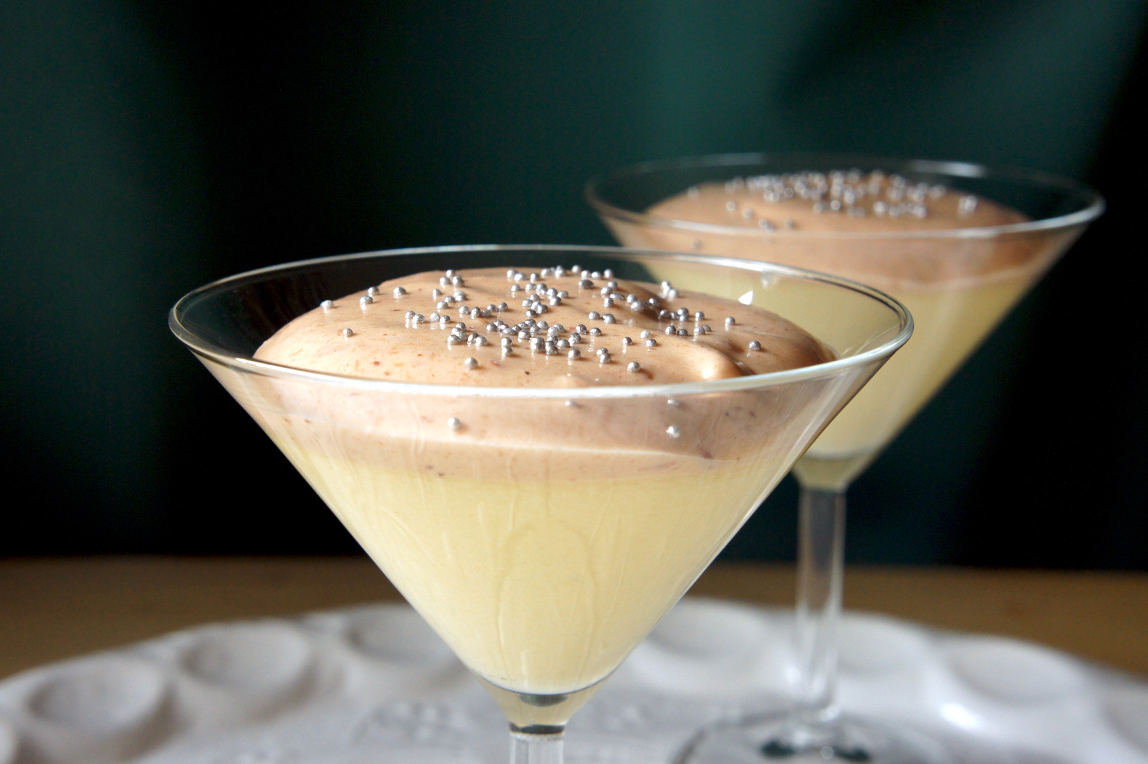 Marzipan Mousse with Cranberry Foam | orangenmond.at