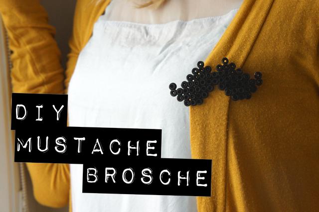 DiY Mustache Brosche by orangenmond.at