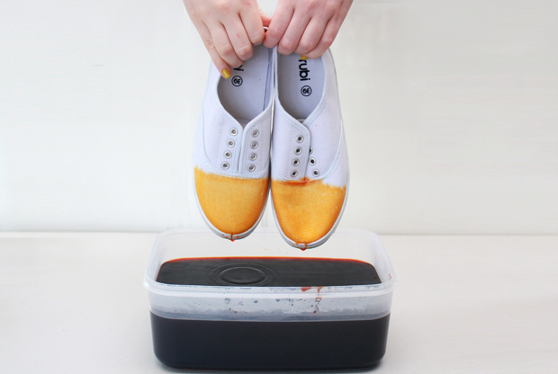 DiY Dip-Dyed Ombre Shoes