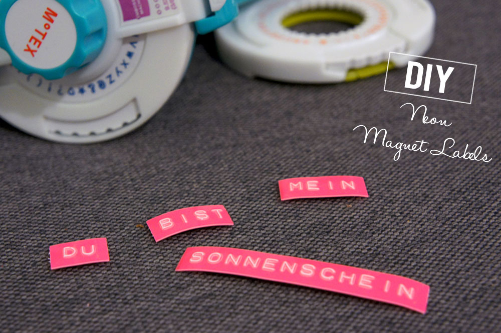 DiY Neon Magnet Labels by Orangenmond.at