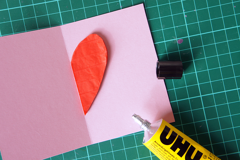 DiY Valentinstagskarte: Schritt 4