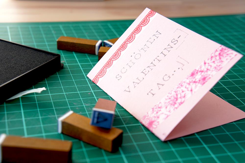 DiY Valentinstagskarte: Schritt 5