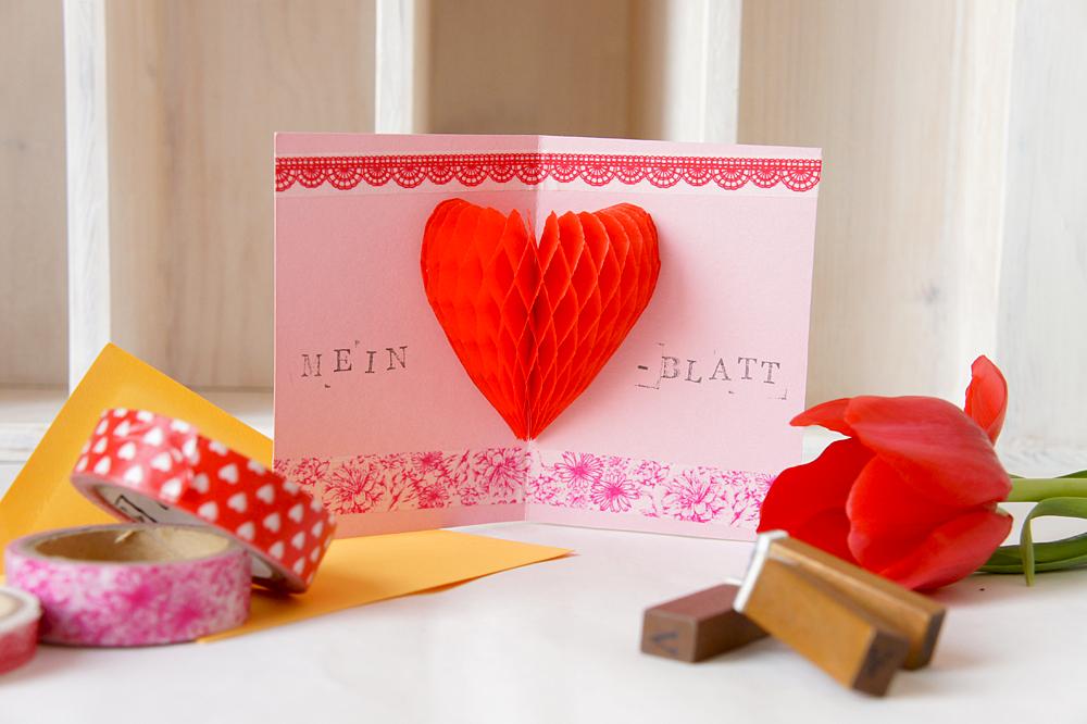 DiY Valentinstagskarte: Schritt 6
