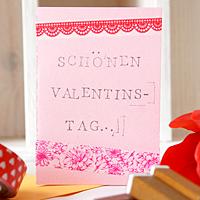 Valentinstags-Karte