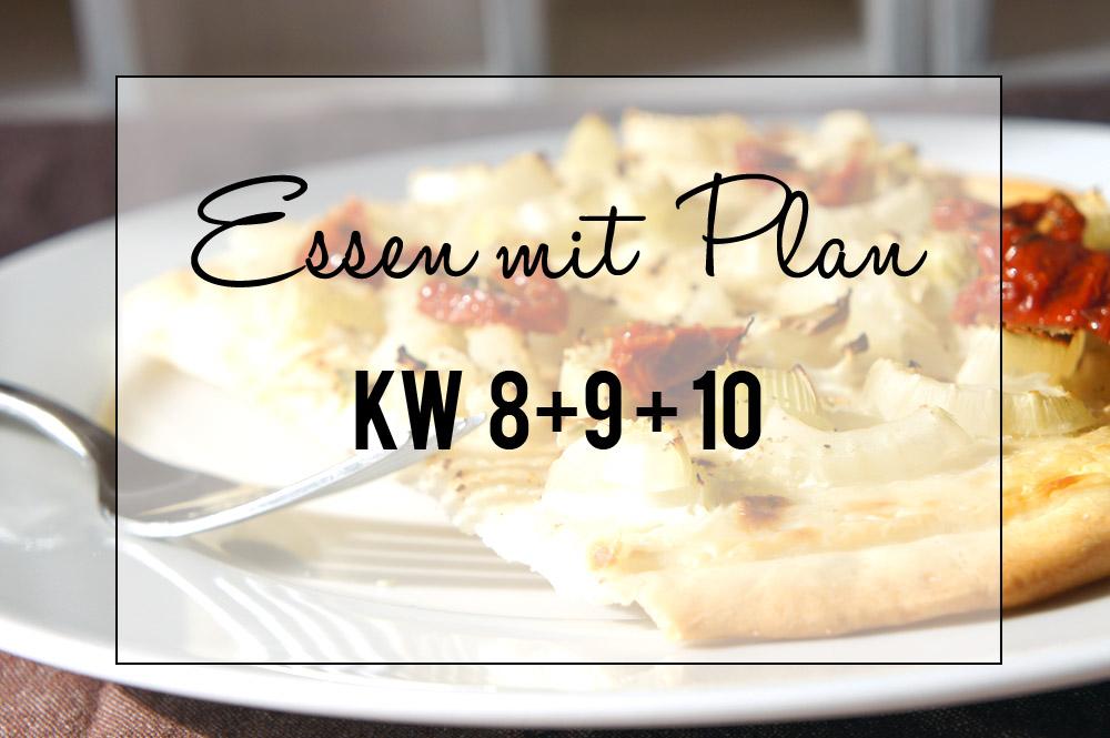Essen mit Plan KW 8 + 9 + 10