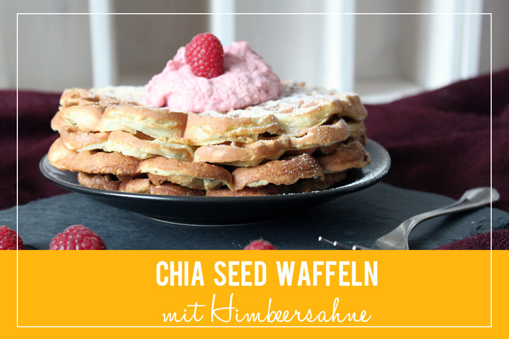 Chia Seed Waffeln mit Himbeersahne | orangenmond.at