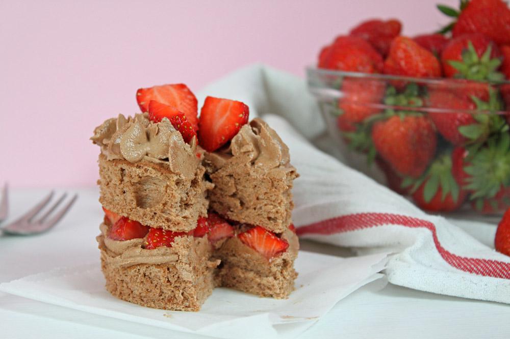 Erdbeertörtchen mit Schokoladecreme | orangenmond.at