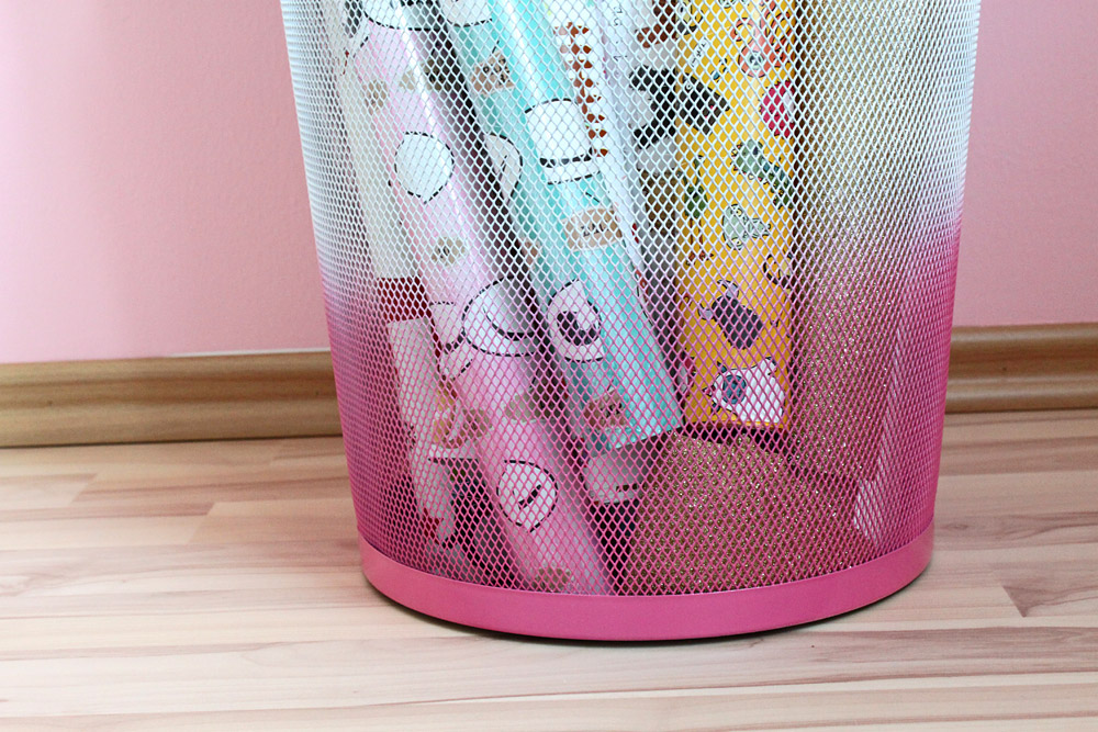 DiY Ombre Papierkorb | orangenmond.at