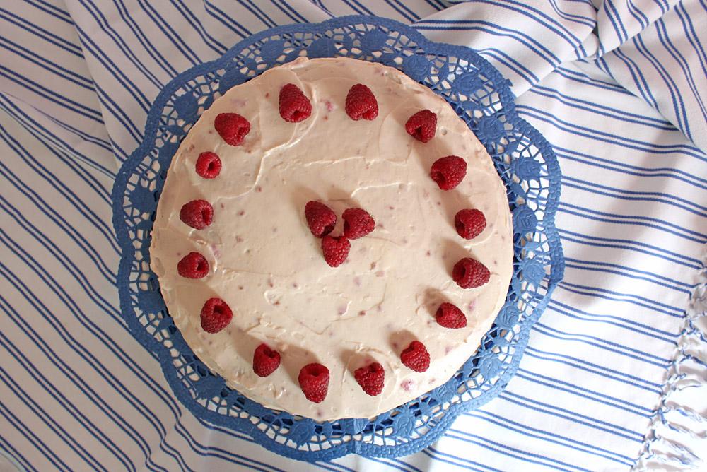 Himbeer - Topfen Torte