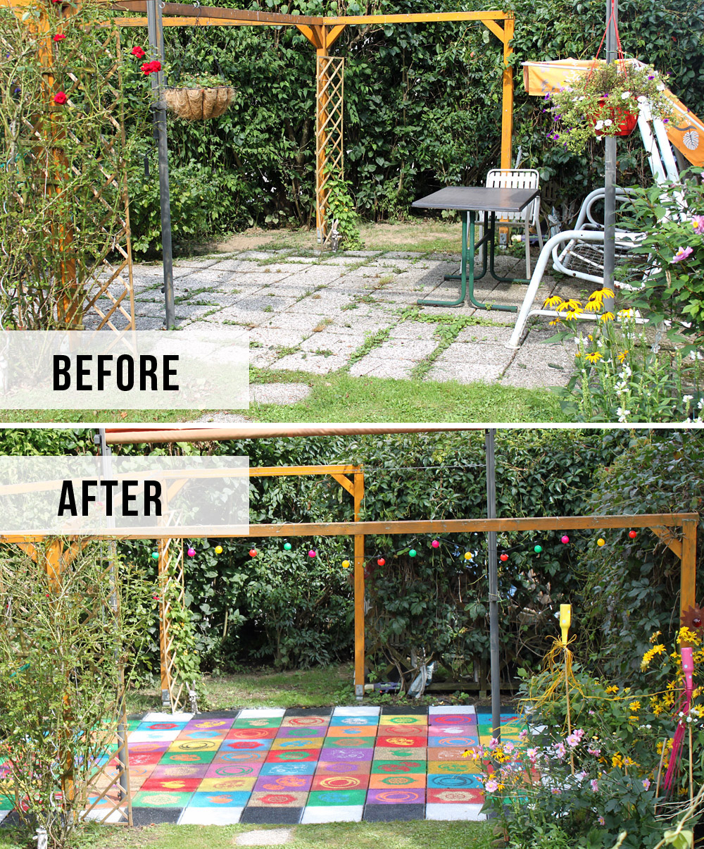 DiY: farbenfrohes Terrassen-Makeover