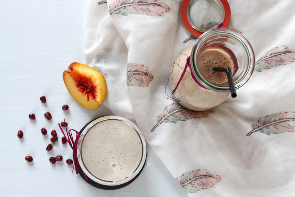 Sunday Smoothie: Pfirsichgranate
