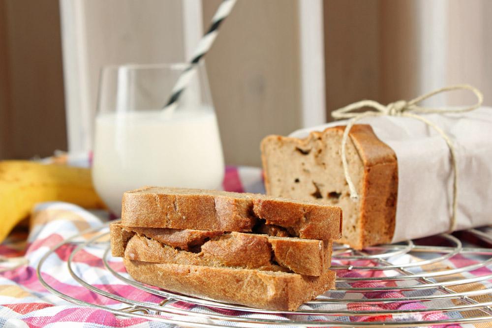 Bananenbrot ohne Zucker / Banabread without Sugar   orangenmond.at