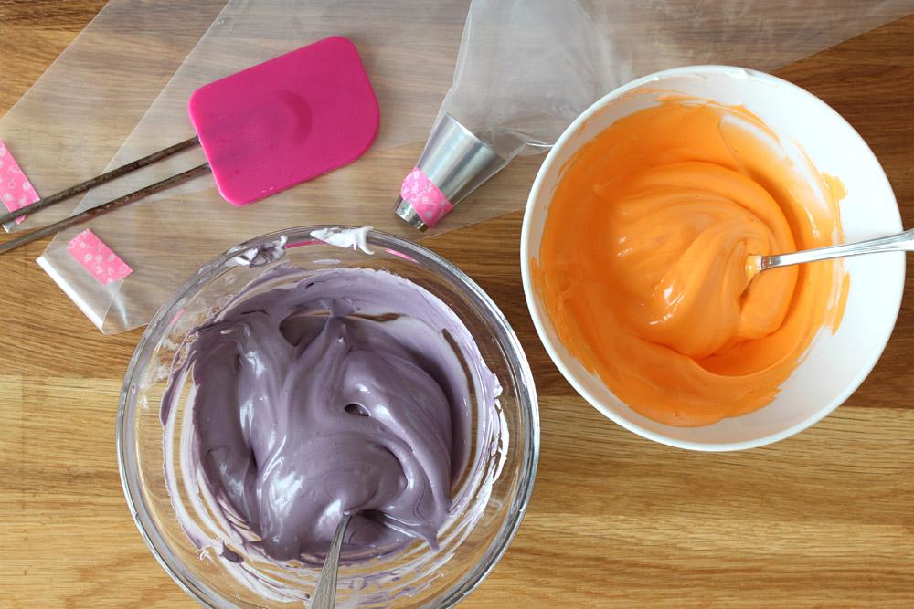 How to: Multicolored Meringue / Zweifarbige Baiser | orangenmond.at