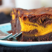 Pumpkin Swirl Brownies | orangenmond.at