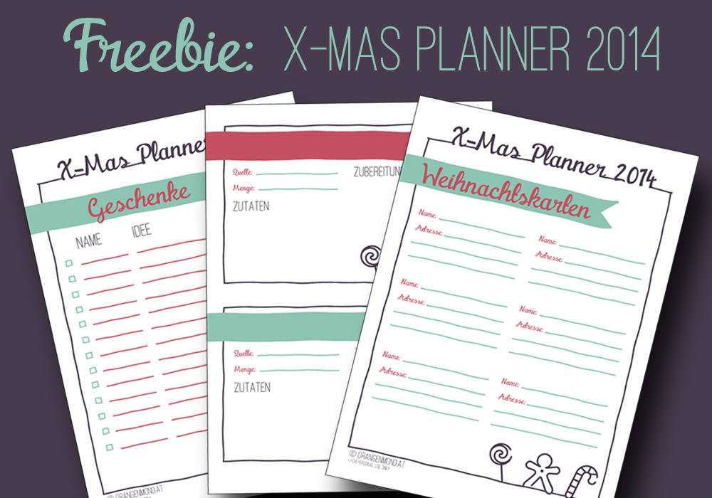 Freebie: X-Mas Planner 2014 Deutsch + English | orangenmond.at