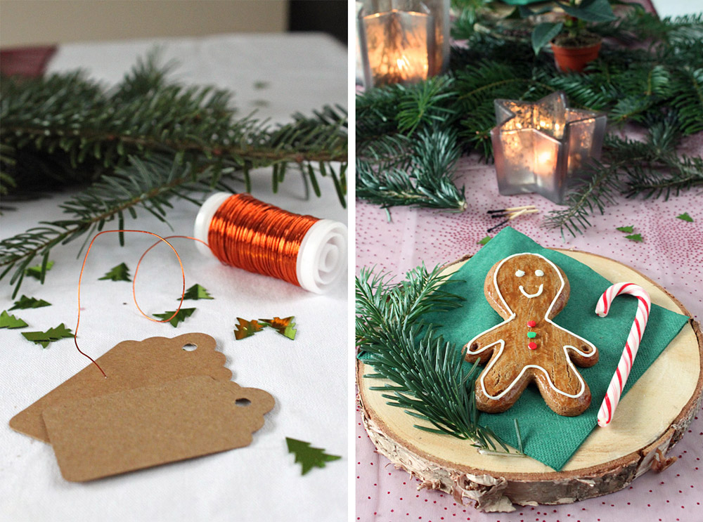 Lebkuchenmännchen Platzkarten / Gingerbread Man Place Cards | orangenmond.at