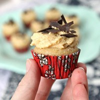 Mini Cider Cupcakes with Speculoos Cream / Mini Cider Cupcakes mit Spekulatius Sahne | orangenmond.at
