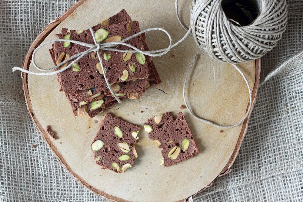 Schoko-Pistazien Biscotti / Chocolate Pistachio Biscotti | orangenmond.at