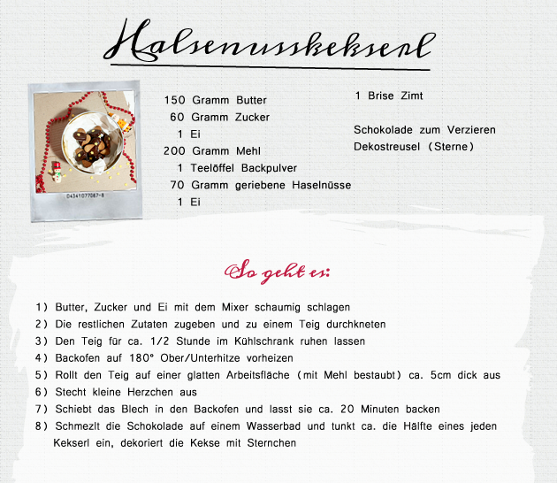 24 Days of Cookies - Day 22:  Haselnusskekserl Rezept