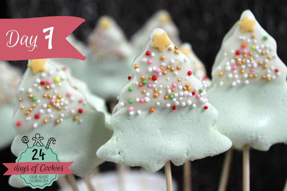 24 Days of Cookies - Day 7: Marshmallow Weihnachtsbäumchen am Stiel