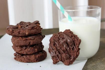 Schoko-Kichererbsen Cookies *** Chocolate Chickpea Cookies   orangenmond.at