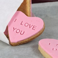 Valentine's Day Cookies with Love Message
