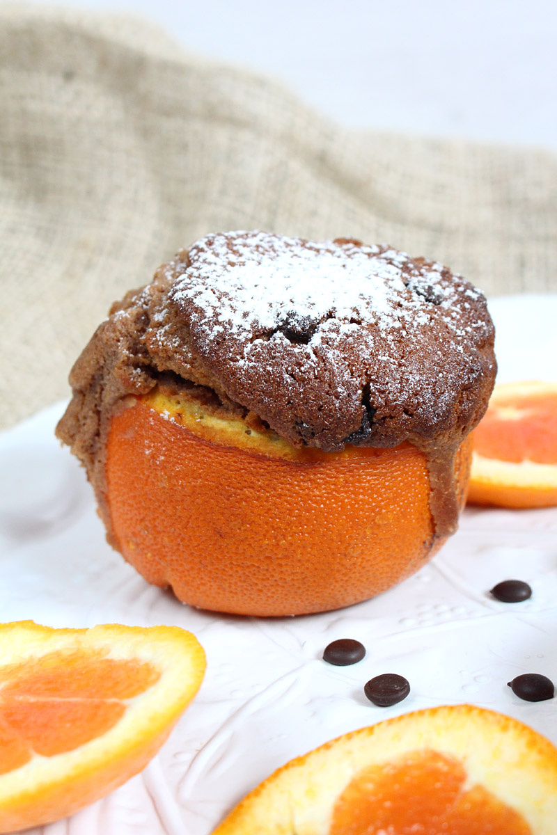 Schokokuechlein aus der Orange *** Orange baked chocolate cake | orangenmond.at
