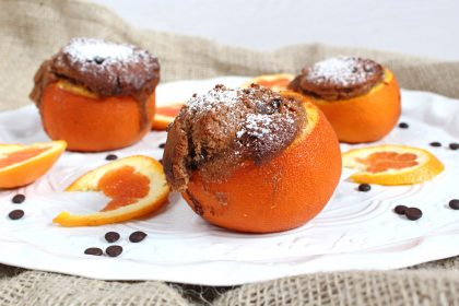 Schokokuechlein aus der Orange *** Orange baked chocolate cake | orangenmond.at