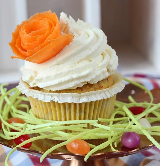 Karotten Cupcakes mit Zitrone-Mascarpone-Topping