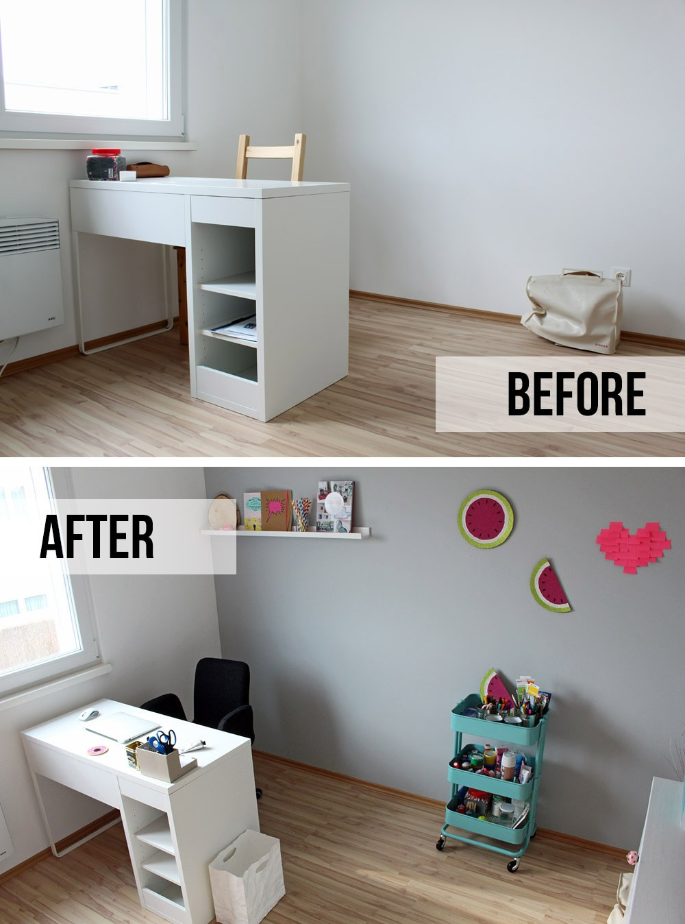 Office Makeover - Before & After | orangenmond.at
