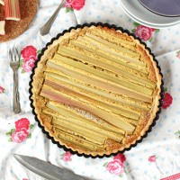 Rhabarber-Mandel Tarte *** Rhubarb Almond Tarte | orangenmond.at