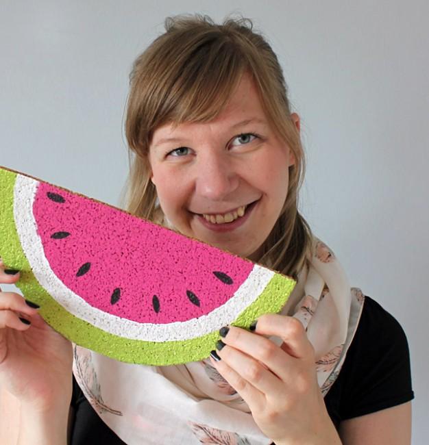 DiY Wassermelonen Memo Board