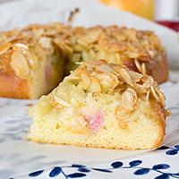 Rhabarber Apfel Kuchen mit Mandelstich | orangenmond.at