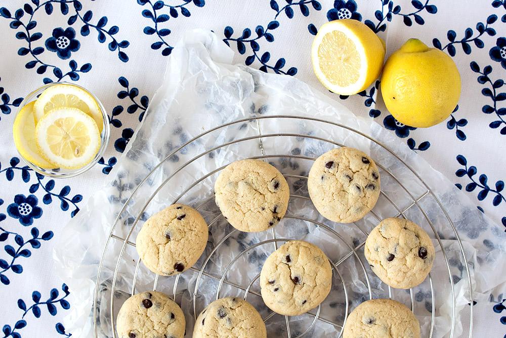 Lemon Chocoloate Chip Cookies | orangenmond.at