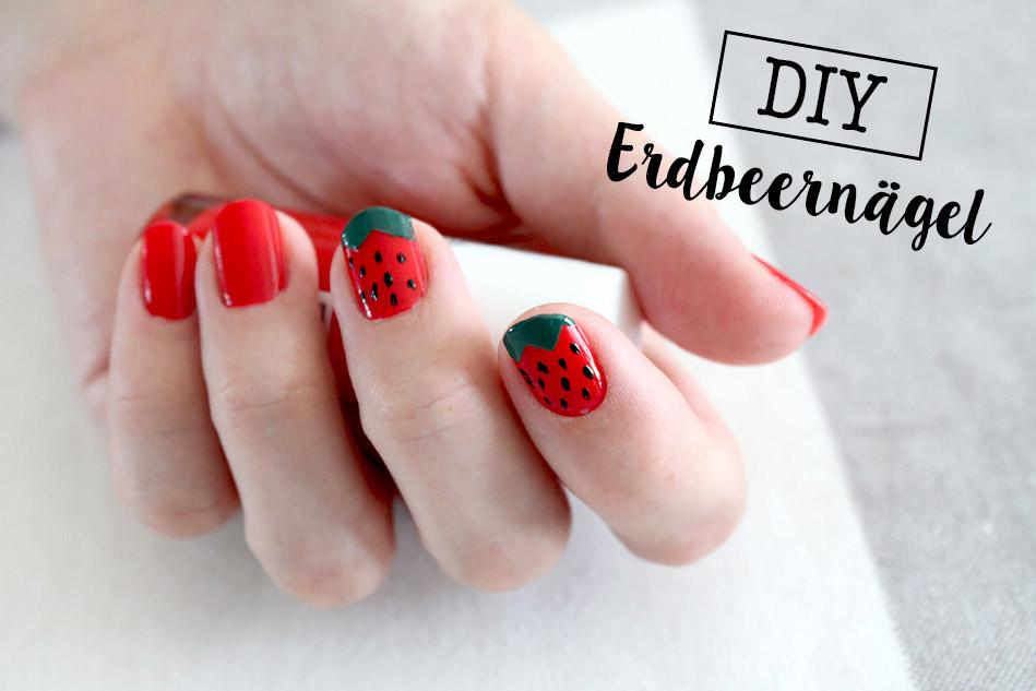 DiY: Erdbeernägel - Sommer auf den Nägeln: Easy Tutorial für ein sommerliches Nageldesign