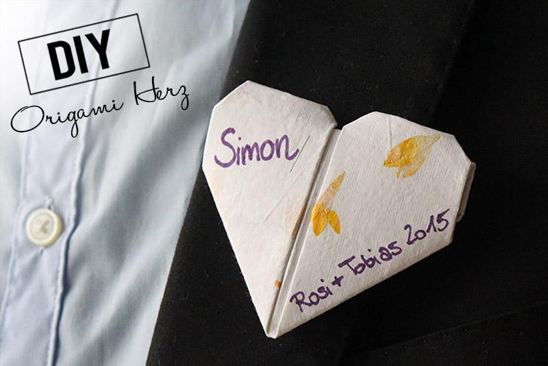 DiY Origami Herz - Brosche | Orangenmond.at