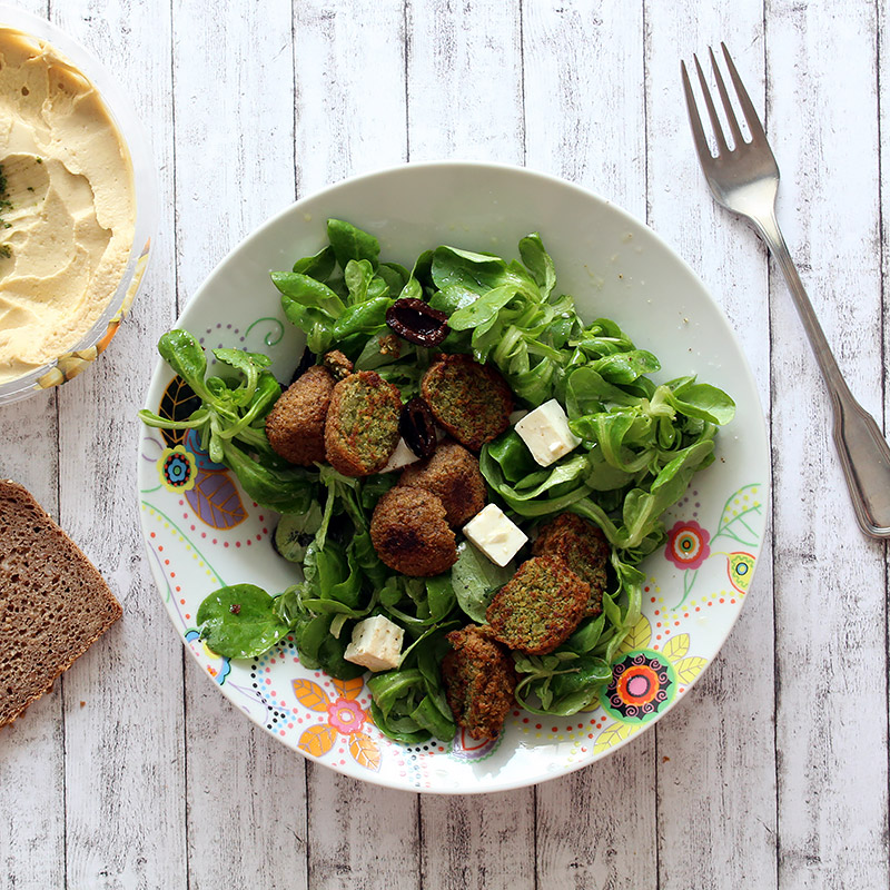 Sommersalat 3 Mal anders: Falafel Salat