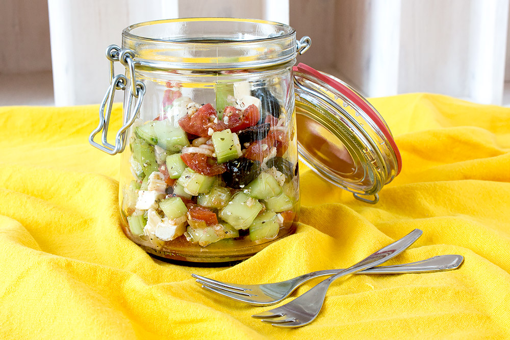 Sommerpicknick Essentials - Schafkäse Salat